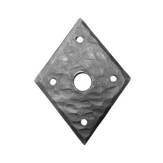 Smidesrosett fyrkantig till bl.a. dörrhandtag - Smidesrosett fyrkantig 85 mm (OBS: säljes styckvis)
