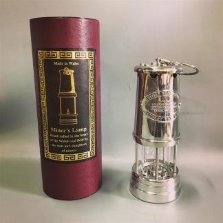 Gruvlykta Miner's Lamp - nickel - mellan 22 cm - Mellersta gruvlyktan i nickel