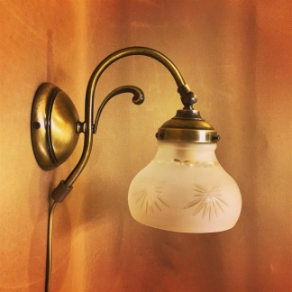 Vägglampa jugend med slipad frostad skärm - Vägglampa jugend med slipad frostad skärm