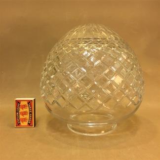 Slipad droppkupa 100 mm krage - Droppskärm slipat klarglas med 100 mm flänsfattning (endast kupan)