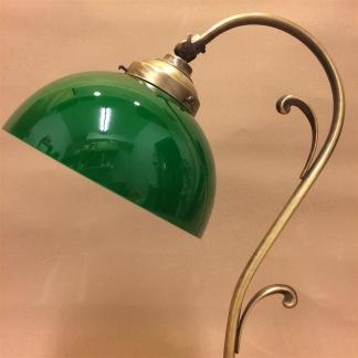 Jugendlampan med skålformad grön klockskärm - Jugendlampan skålformad grön klockskärm
