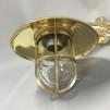 Väggmonterad gallerarmatur med rak arm - mässing
