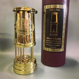 Gruvlykta Miner's Lamp - mässing - mellan 22 cm - Mellersta gruvlyktan i mässing