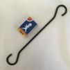 Stormlykta svart - Feuerhand original (No 276) - Tillval: 25 cm svart S-krok för upphängning