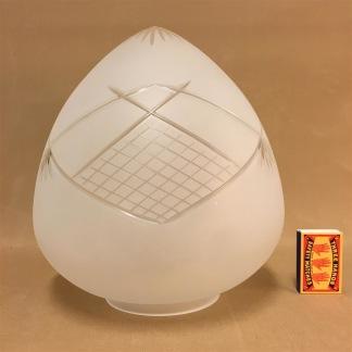 Frostslipad droppkupa 100 mm krage - Droppen med 100 mm flänsfattning (endast kupan)