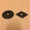 Dörrhandtag med fyrkantig rosett i gjutjärn/smide