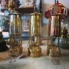 Gruvlykta Miner's Lamp - mässing/nickel  - stor 26 cm