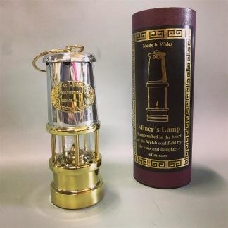 Gruvlykta Miner's Lamp - mässing/nickel  - liten 17 cm - Minsta gruvlyktan i mässing och nickel