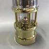 Gruvlykta Miner's Lamp - mässing/nickel  - liten 17 cm
