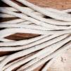 Gruvlykta Miner's Lamp - mässing/nickel  - liten 17 cm - TILLVAL: Extra veke 5 mm mjuk sort till denna lampa - 25 cm lång