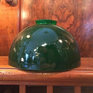 Skålformad mörkgrön skärm - 60 mm krage - Skålformad grön skärm