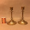 Par ljusstakar Thorshammars bruk mässing 1800-tal (äldre) - Par ljusstakar från Thorshammars Bruk