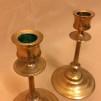 Par ljusstakar Thorshammars bruk mässing 1800-tal (äldre)