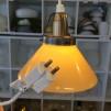 15 eller 20 cm - Skomakarlampor - vit, gul eller grön - Gul liten 150 mm INKL takkontakt