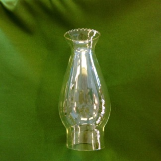 63 mm - Lotus (krusig kant) (Glas till fotogenlampa) - Linjeglas Lotus liten med krusad kant  (63 mm )