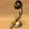 Vägglampa jugend med vit klockskärm med vågad kant