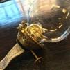 52 mm - Linjeglas 1'' (för skruvfäste) - udda äldre sort (Glas till fotogenlampa)