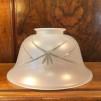 Frostslipad klockskärm lägre - 60 mm krage - Frostad slipad klockskärm med utsvängd kant