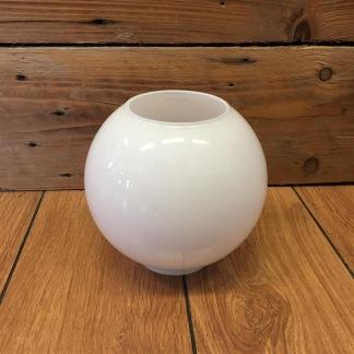 85 mm - Kupa 14''' klot opalvit glansig (Kupa till fotogenlampa) - Kupa 14''' klotformad vit opal