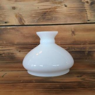 Vestaskärm opal - 125 mm mindre (Skärm till fotogenlampa) - Vesta vit 125 mm