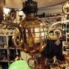 Unik takfotogenlampa 20''' helt i mässing med nio ljusarmar (äldre)