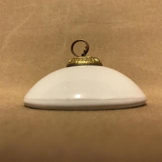 Sotskydd hängande porslin Karlskrona Lampfabrik (Reservdel till fotogenlampa) - Sotskydd hängande porslin med ring
