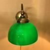 Vägglampa jugend med skålformad mörkgrön klockskärm