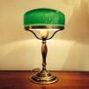 235 mm - Skärm mörkgrön stor - till Strindbergslampa