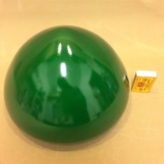 200 mm - Skärm toppig grön mellan - till Strindbergslampa - Strindbergsskärm MELLAN mörkgrön toppig 200 mm i diameter