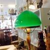 200 mm - Skärm toppig grön mellan - till Strindbergslampa