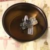 Takfäste för 100 mm skärm/kupa antikoxiderad mässing