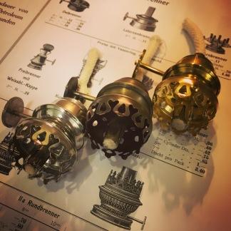 Brännare 3''' special (med 5 - 6 mm snörveke) (Brännare till fotogenlampa) - Brännare förnicklad mässing till cafélampan inkl. veke
