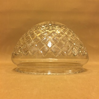 200 mm - Skärm toppig opalvit glasklar slipad - till Strindbergslampa - Strindbergsskärm MELLAN glasklar slipad toppig 200 mm i diameter