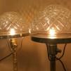 200 mm - Skärm toppig opalvit glasklar slipad - till Strindbergslampa