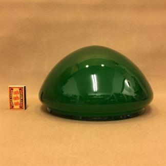 235 mm - Skärm toppig mörkgrön stor - till Strindbergslampa - Strindbergsskärm STOR mörkgrön toppig  235 mm i diameter