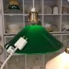 25 cm - Skomakarlampa - vit eller grön - Grön 250 mm INKL takkontakt