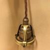 Tygsladdsupphäng brunt/antikt med klofattning(3 skruvar)