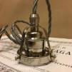 Tygsladdsupphäng grått/nickel med klofattning(3 skruvar)
