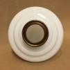 14''' korgoljehus i vitt glas / antikoxiderad (Oljehus till fotogenlampor)
