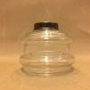 10''' oljehus glas/antiklackerad (Oljehus till fotogenlampor)
