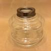 10''' oljehus glas/antiklackerad (Oljehus till fotogenlampor) - 10''' oljehus antik oljehusring