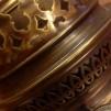 12''' rundbrännare (med 12''' veke) (Brännare till fotogenlampa) - 12''' rundbrännare antikoxiderad mässing inkl. veke