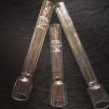 34 mm - Linjeglas 6''' - antika blyglas (Glas till fotogenlampa) - Linjeglas 6''' ANTIKT med stämpel (cirka 230 mm)