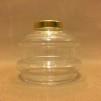 10''' oljehus glas/mässing (Oljehus till fotogenlampor)