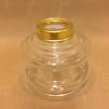 10''' oljehus glas/mässing (Oljehus till fotogenlampor) - 10''' oljehus polerad mässing