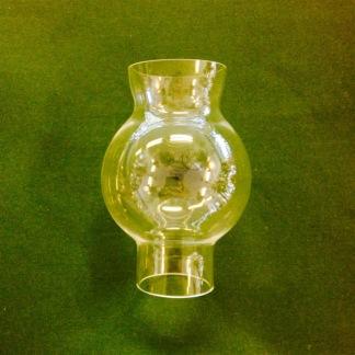 34 mm - Linjeglas 5''' / 6''' klotformat (Glas till fotogenlampa) - Linjeglas 5''' / 6''' (34 mm) grynet klotformad