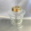 14''' hängoljehus (till bl.a. Torparelampor)  glas/mässing (Oljehus till fotogenlampor)