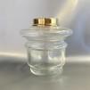 14''' hängoljehus (till bl.a. Torparelampor)  glas/mässing (Oljehus till fotogenlampor) - 14''' hängoljehus polerad mässing