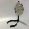 10''' oljehus glas/nickel (Oljehus till fotogenlampor) - TILLVAL: Rund reflektor i nickel