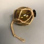 Glaskula i nät gul 5 cm i diameter